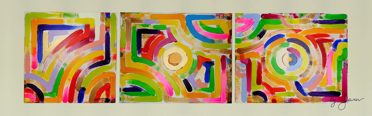 The Dancer, Triptych No. 3 by Swav