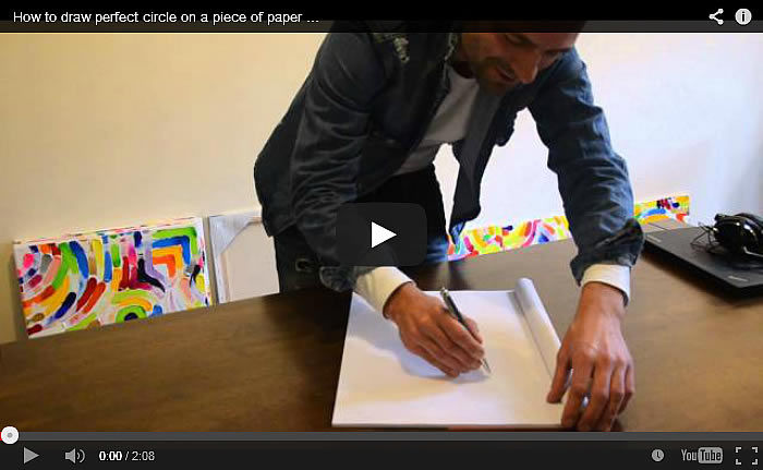 How to draw a circle on a piece of paper in less than 5 seconds