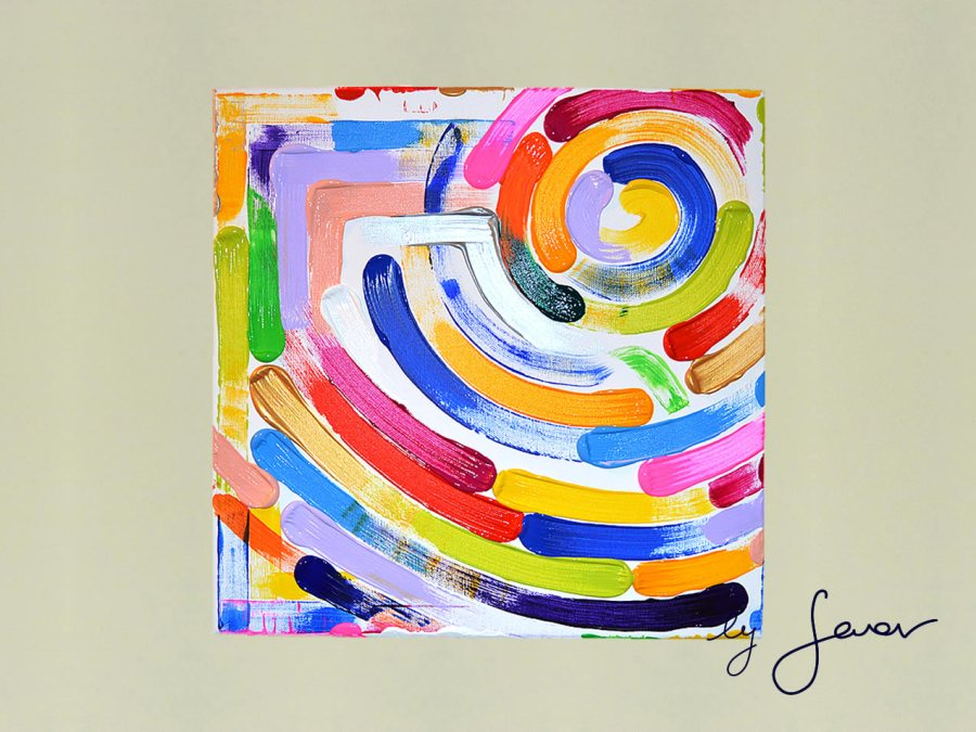 spinning the wheels of music, painting no. 55 by swav