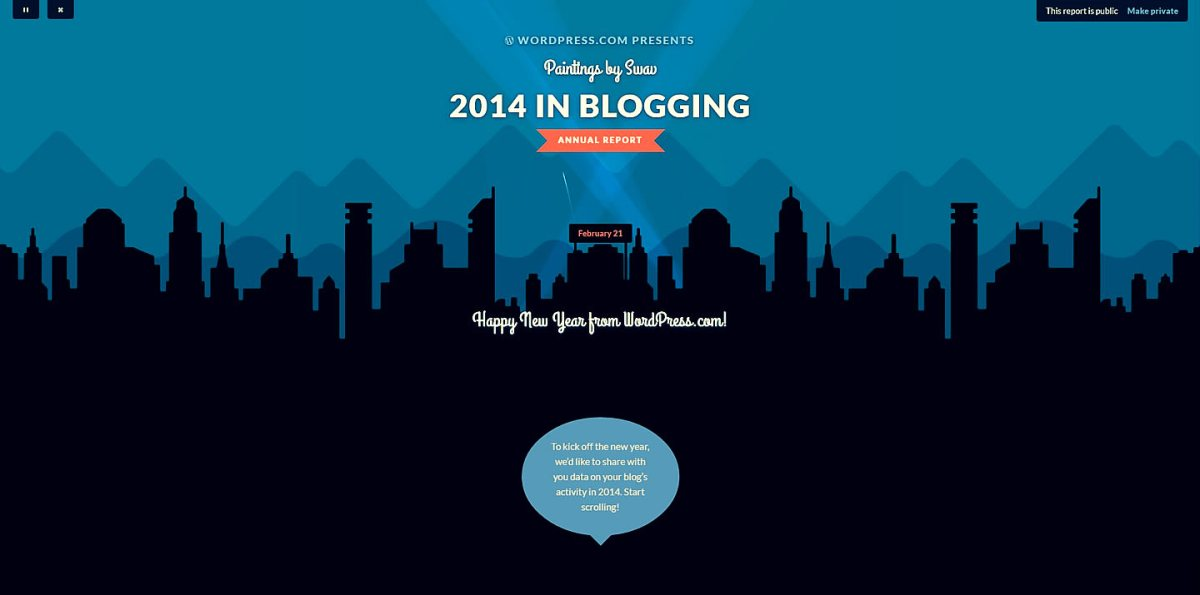 The year of blogging, Blogging University @ WordPress.com (Class of 2014)