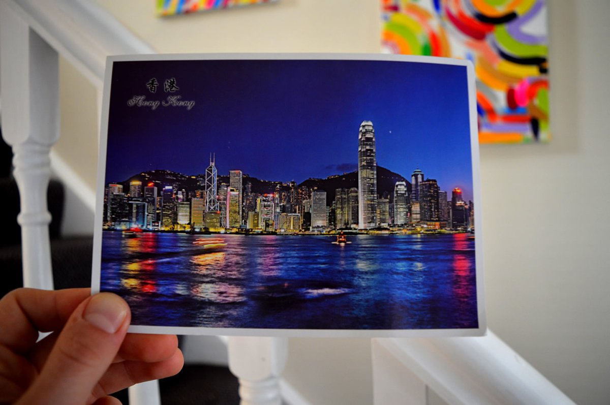 A postcard from Victoria Harbour in Hong Kong